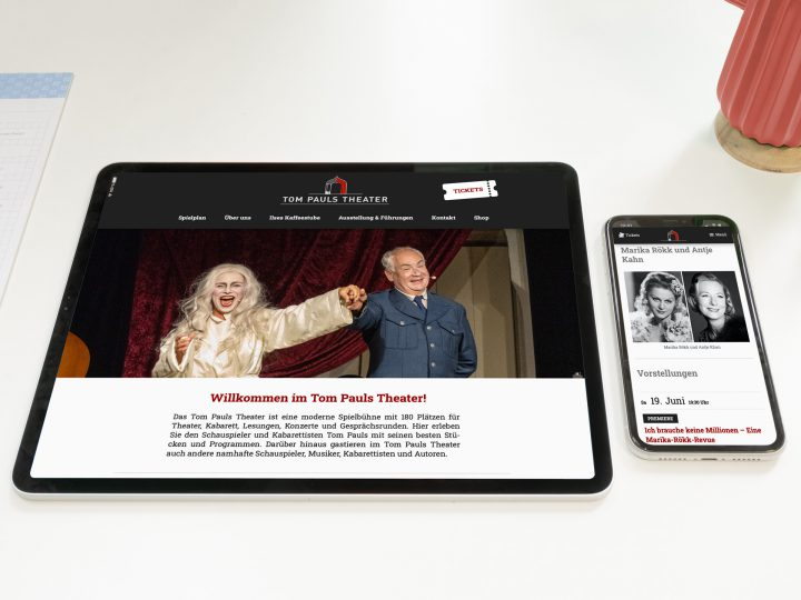 Relaunch Website Tom Pauls Theater